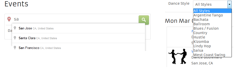 Search Calendar